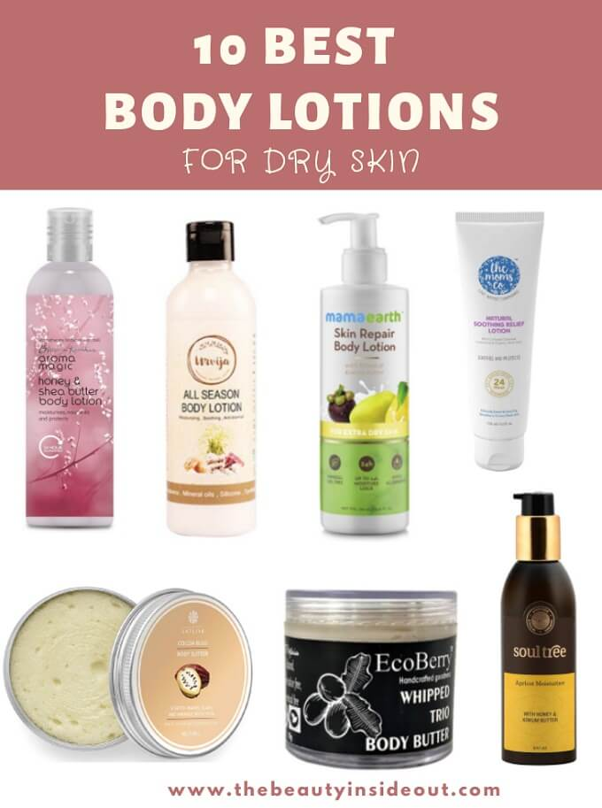 10 Best Chemical Free Body Lotions For Dry Skin In India